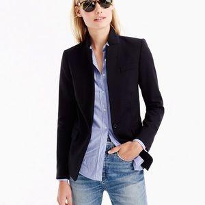 J. Crew Black Regent Blazer Wool Blazer Jacket